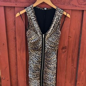 Perfect Rockabilly/Pinup ruched leopard dress VLV
